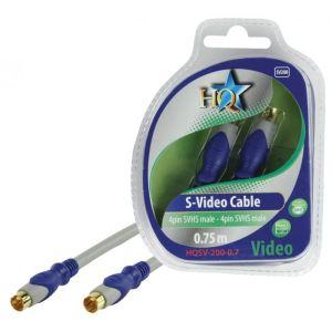 Nds HQSV-200-0.7 - Câble S-video male 0.75 m