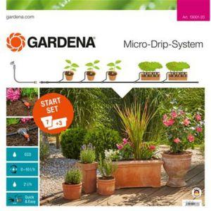Gardena 13001-20 - Kit d'irrigation Micro-Drip system pour 10 pots