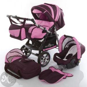 Milk Rock Baby Starcruiser - Poussette canne combinée 3 en 1 avec nacelle et siège auto cosy