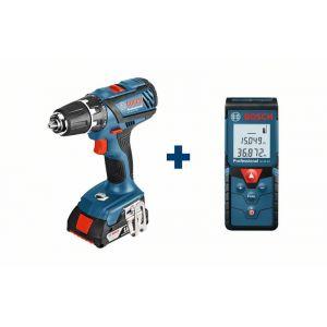Bosch Professional GSR 18-2-LI Plus + Télémètre laser GLM 40 - Pack Perceuse visseuse sans fil