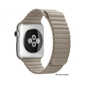 Apple MJ4Y2ZM/A - Bracelet Apple Watch 42mm boucle en cuir beige