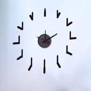 Horloge murale sticker Design Rythmique