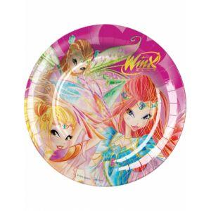8 assiettes en carton Winx Club (23 cm)