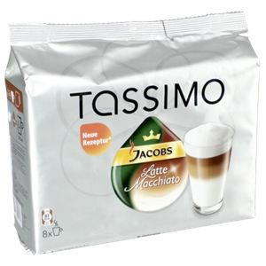 Tassimo 8 dosettes T-Discs Jacobs Latte Macchiato