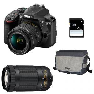 Nikon D3400 (avec 2 objectifs 18-55mm et 70-300mm)