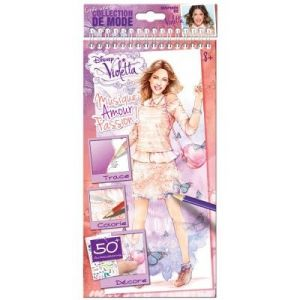 "Buki France 2155 - Carnet d'esquisses ""Violetta Disney"" Style me up!"