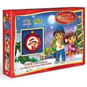 Coffret Le Noël magique de Dora et Diego - Dora et la magie de Noël + Go Diego ! : Diego sauve Noël ! + La boule de Noël Dora incassable