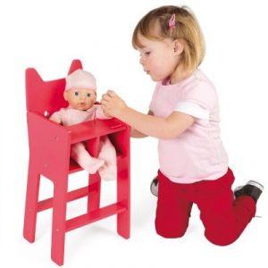 Janod Chaise haute Babycat pour poupées (36 cm)