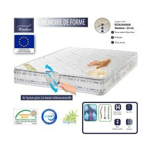 matelas 180x200 memoire de forme comparer 611 offres. Black Bedroom Furniture Sets. Home Design Ideas