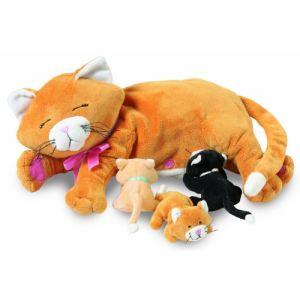 Manhattan Toy Peluche Animaux et leurs petits : Chat Nina