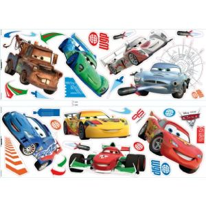 Decofun 32 stickers muraux Cars 2 Disney