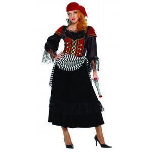 Déguisement de pirate robe longue avec ceinture