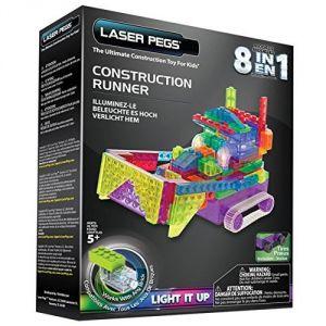 Laser pegs Véhicule chantier 8-en-1 lumineux