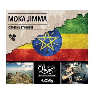 Cafés Lugat Café en grains : Ethiopie - Moka Jimma - 250g