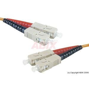 Abix 392203 - Câble jarretiere fibre optique SC vers SC multimode 50/125 um 10 m