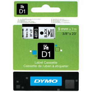 Dymo S0720680 - Ruban D1 Standard noir/blanc 9 mm - 7 m