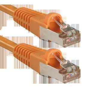 Lindy 47091 - Câble réseau cat.6 S/FTP PIMF Patch orange 0,5m