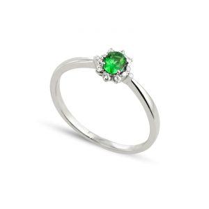 BADM07015-0001 - Bague en or ornée de diamants et d'émeraude