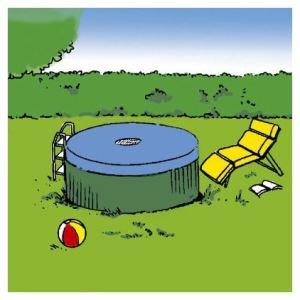 ProBache Bâche pour piscine ronde Ø 3,60 m