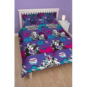 Monster High - Housse de couette et 2 taies (200 x 200 cm)