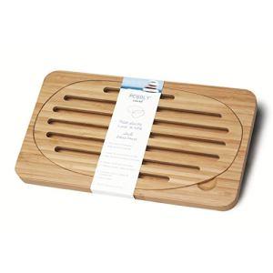 Pebbly NBA010 - Planche à pain de table en bambou (15 x 27 cm)