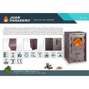 Juan Panadero Mercure - Poêle polycombustible (bois et granulés) 11,5 kw