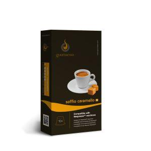 Gourmesso 10 caspules Soffio Caramello (intensité 5) compatibles avec les machines Nespresso