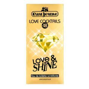 Eau Jeune Love Cocktails : Love & Shine - Eau de toilette scintillante pour femme