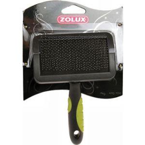 Zolux Brosse en plastique Slicker avec picots souples pour chien