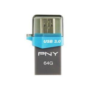 PNY FDI64GOTGOU3G-EF - Clé USB 3.0 Duo-Link OU3 OTG 64 Go