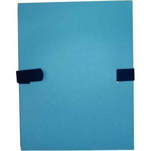 Chemise extensible à sangle velcro, qualité toilée - format 24x32 cm Bleu