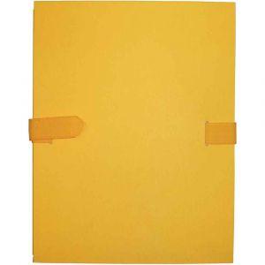 Chemise extensible à sangle velcro, qualité toilée - format 24x32 cm Jaune