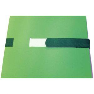 Chemise extensible à sangle velcro, qualité toilée - format 24x32 cm Vert