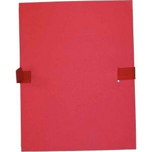 Chemise extensible à sangle velcro, qualité toilée - format 24x32 cm Rouge