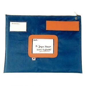 Pochette navette 32x42cm bleu
