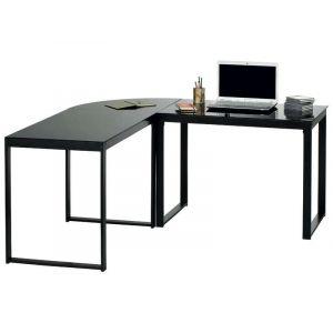 bureau d 39 angle en verre trempe comparer 12 offres. Black Bedroom Furniture Sets. Home Design Ideas