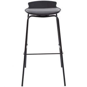 Tabouret de bar SOHAN coloris gris/rouge
