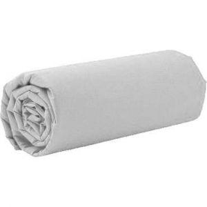 Drap housse 1 personne 90x190 cm PERLA coloris blanc