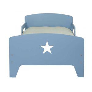 Lit évolutif 90x140/170/200 cm STAR coloris bleu