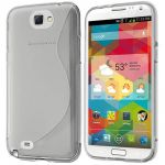 Coque S-Line Silicone Gel Samsung Galaxy Note 2 - Housse Etui Vague Transparent - Neuf