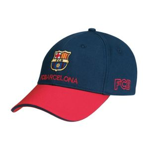 Casquette Fc Barcelone - Collection Officielle Fc Barcelona - Football - Blason Maillot Club Barça - Taille Réglable - Neuf