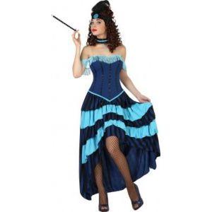 Déguisement Cabaret Années 20 Bleu Femme, Taille Medium - Neuf