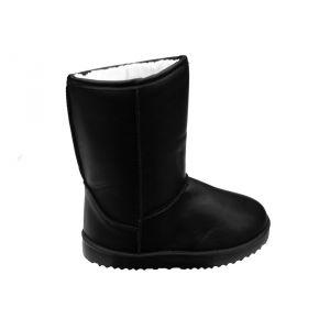 Boots Fourrées, Impermeable, Simili Cuir, Pliable, Bottes Fourrées, Bottines Fourrees, Imitation Cuir, Apres Ski, Pas Cher, (Julia) (32307) - Neuf