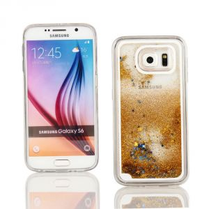 Kit Me Out Fr Coque En Gel Tpu/Silicone Pour Samsung Galaxy S6 - Doré Étoiles Et Paillettes - Neuf