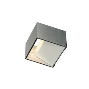 applique murale - carrée - a led - 5 w - 3000k - slv logs in - ip20 - alu brossé - Neuf
