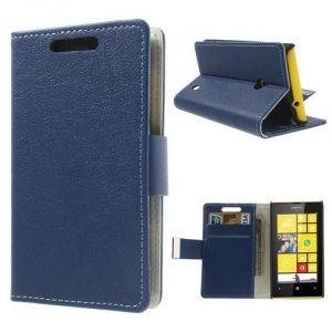Etui Housse Coque Portefeuille Bleu Nokia Lumia 520 - Neuf