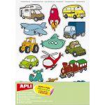 45 gommettes repositionnables - les transports - APLI AGIPA ( Neuf Marketplace )