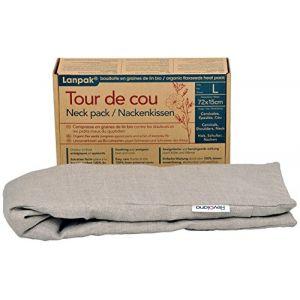 Revolana Tour de Cou Bouillotte Sèche avec Housse Amovible en Graines de Lin Bio 72 x 15 cm ( Neuf )