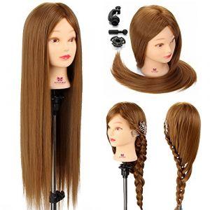 Neverland Vrais Cheveux coiffure Têtes d'exercice Coiffure Mannequin Tête À Coiffer Coiffure Femme ( Neuf Marketplace )
