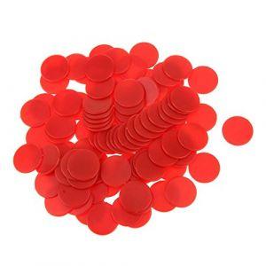 100pcs Jetons de Jeux Opaque Compteurs en Plastique pour Compter ou Marquer - Rouge ( Neuf Marketplace )